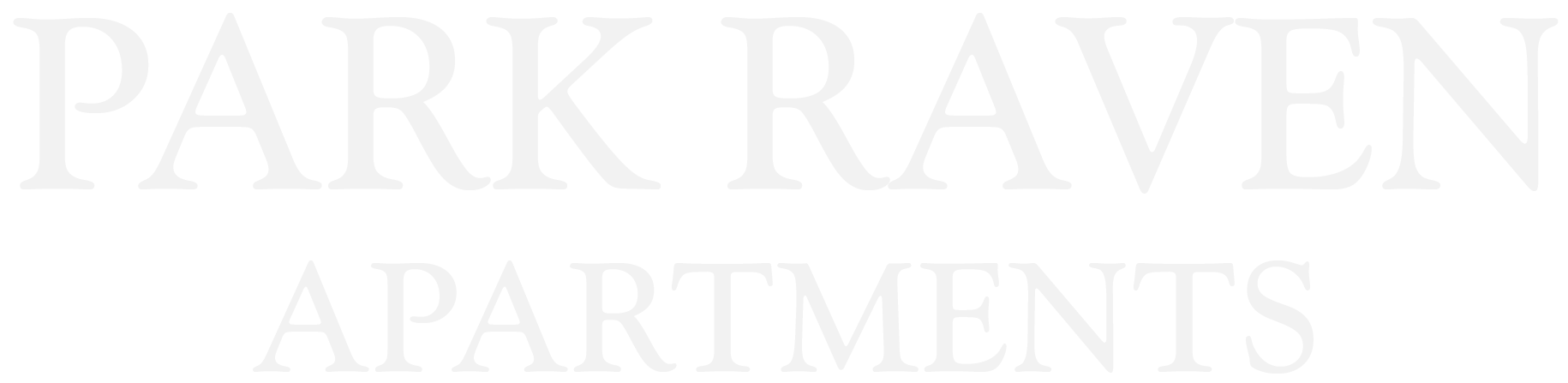 Park Raven Apartments Logo